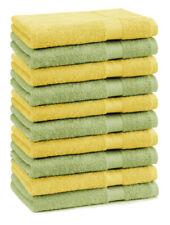 Lot de 10 serviettes débarbouillettes Premium couleur: vert pomme & jaune