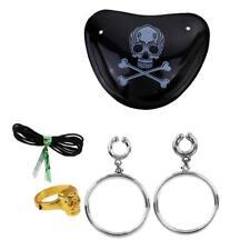 Adulte Enfant Accessoire Pirate Eye Patch+Paire Boucle D'oreilles+Bague