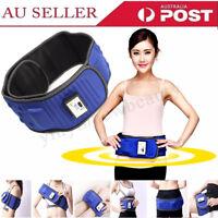 Electric Vibration Waist Massage Slim Belt Tummy Weight Loss Body Fat Burner AU