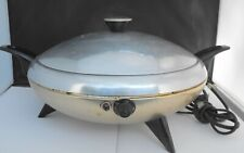 Vintage Cory Party Chef Electric Skillet Buffet Warmer Model DEC Aluminum Test