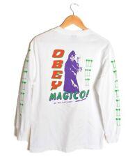 OBEY Propaganda Magico Reaper Shirt White Mens Medium Long Sleeve Palm Trees Tee