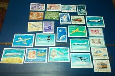 Romania Airmail Stamp Lot 24 Used Stamps Air Mail Space 1960's Collection