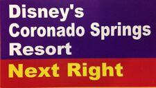 "Walt Disney World Road Sign Inspired Magnet 2"" X 3.5"" Coronado Springs Resort"