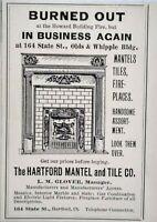 1899 Hartford Mantel and Tile Co. L.M. Glover Connecticut Vtg Print Ad