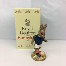 Royal Doulton Bunnykins Figurine Soccer Player Db123 W/ Box Special Edition