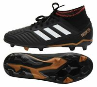 ADIDAS PREDATOR 18.3 FG JUNIOR SOCCER CLEATS BOYS SIZE 5 CP9010 BLACK SOLARED