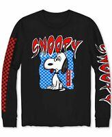 Peanuts Mens Shirt Black Size Medium M Big Chillin Snoopy Graphic Tee $26 #229