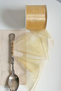 0,50€/m zartes Chiffonband 7cm Gold 51 Schleifenband ORGANZA Chiffon DEKOBAND