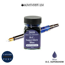Monteverde G309dc 30 Ml Fountain Pen Ink Bottle Dc Supershow 2018 Blue