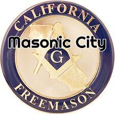 Z-155 CA Masonic Auto Emblem STATE SERIES CALIFORNIA FreeMasonry Car Mason PHA