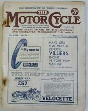 The Motor Cycle 2 Feb 1933 Motorcycle Magazine New Imperial 250 Test
