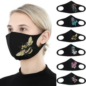Reusable Fashion Masks DIY Partial Drill Colorful Beads Kit Cartoon Face Covers