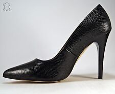 HIT 3D Stilettos Elegant Pumps High Heels Schwarz Leder, Baldaccini, Gr. 37