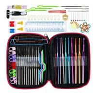 Crochet Hook Set Needles Sewing Tools Yarn Knitting Accessories with Case Sale
