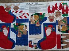 NICK OF TIME 3-D Christmas Stockings/Susan Jill Hall/Springs Fabric Panel/mks 2