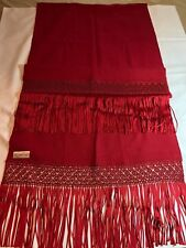 Gorgeous Red ALAPCA Extra Large Handmade Luxurious Exceptional Wrap/Scarf
