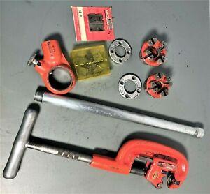 "RIDGID No. 2A Heavy Duty Pipe Cutter 1/8""-2"" Cutter Kit w/ 1/2"" & 3/4"" Threader"