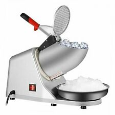 Upgraded 300w Electric Ice Shaver Ice Shaved Machine Ice Crusher Snow Silver