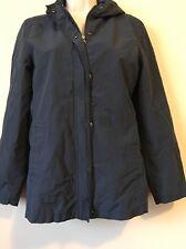 Gap Women's Size Medium M Navy Hoodie Utility Jacket Coat