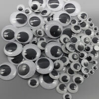 100Pcs Assorted Size Wiggle Googly Eyes Self-Adhesive For DIY Dolls Kids Crafts