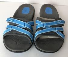 TEVA Tirra Slide Slip On Sandals 1003990 Blue/ Black Women's Size 5.5
