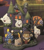 Ceramic Bisque READY to PAINT  Haunted House lights up