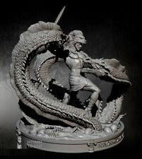 1/24 Resin Figure Model Kit Heracles Hercules Snake Defeats Unpainted Unassamble