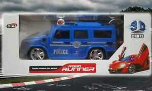 RC Police Jeep Explorer Remote Control Ride On Car With Doors & Lights For kids