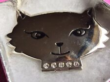 CAT MIRROR COMPACT WITH DIAMONTE COLLAR (sold for New Beginnings Horses)
