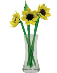 Sunflowers Global Village Co Window Box Greetings Glass Flowers With Vase