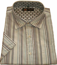 Cotton Blend Loose Fit Striped Casual Shirts & Tops for Men