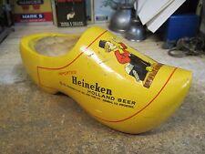 HEINEKEN BEER ADVERTISING WOODEN SHOE BACK BAR REWERIANA HOLLAND
