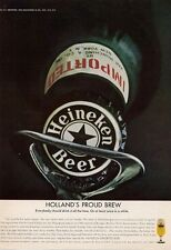 1965 Heineken Beer From Holland PRINT AD