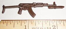 BIN B16  G I JOE Accessory  Brown Ak-47 with Bayonett     2003 Scalpel