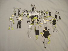 Threadless Designer Olly Moss In Case of Zombies Funny Zombie Guide T Shirt L