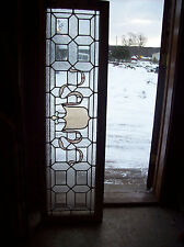 Textured glass w/ stained glass Crest (Sg 1015)
