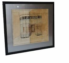 English Art Deco Architecture Drawing Bradford Leeds Proposed Front Shop 1934