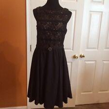 Women black lace Jessica Howard occasion dress size US 12