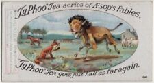 The Fox And The Ass Aesop's Fable Moral Story 1920s Ad Trade Card