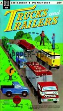 Vintage Reprint - 1960 - Truck And Trailers Punch-Out Book - Reproduction