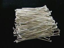 100 Nietstifte 4cm x 0,7 Kettelstifte Kopfstifte Stift Pins Farbe antiksilbern *