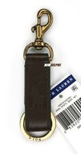 NWT Polo Ralph Lauren Leather Signature Pony Key Chain, Key Ring, Key Fob