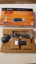 NEW D-Link DWA-140 Wireless N USB Mini Adapter + USB Cradle/Dock + CD +ext cable
