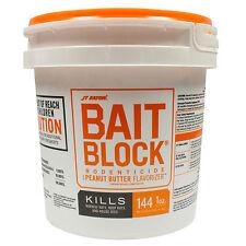 Rodent Rat Mouse Bait Block Rodenticide Peanut Butter Flavor 9 Lbs -144 Blocks