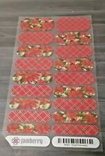 1152 Jamberry Seconds: Christmas & Winter: full sheet: Tinsel Poinsettia