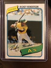 RICKEY HENDERSON 1980 TOPPS ROOKIE RC A'S #482