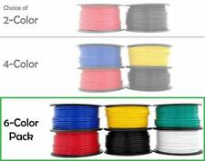 12 Gauge Copper Clad Aluminum Low Voltage Primary Wire 6 Color Combo 100 Ft Per