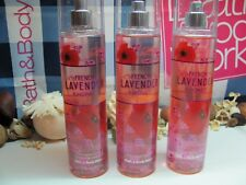 Bath and Body Works Lot of 3 ~ French Lavender & Honey ~  Fine Fragrance Mist