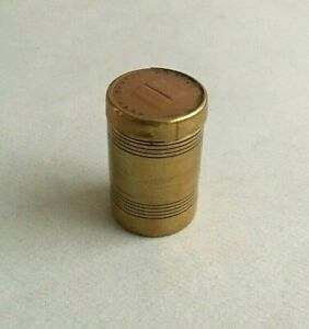 1835 ANTIQUE BRASS BOX cases container counter tokens Testamental Truths vintage