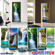 Self-Adhesive Waterfall Theme Door Wrap (Wall Wood Fridge) Mural Sticker Decal